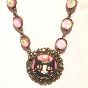 Sweet Kitty Costume Jewelry Necklace